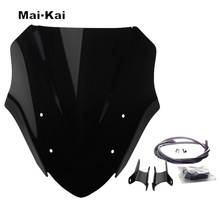 MAIKAI For KAWASAKI Z900 Z 900 2017 Motorcycle Windscreen Wind Deflector Windshield Head Cover Sun Visor Viser