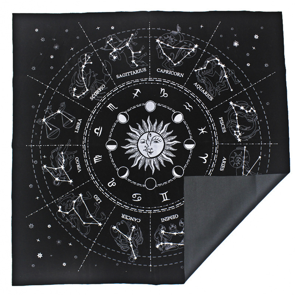 Altar Tarot Cloth Tablecloth Divination CARDS  Wicca Witch Tapestry Pentacle