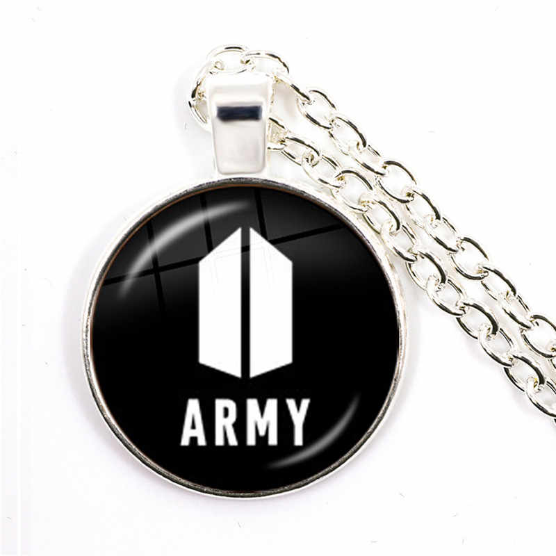 Kpop Bangtan Boys Glass Cabochon Necklace Fashion Bangtan Boys New Ablum Love Yourself Answer Wings Pendant For Women Fans
