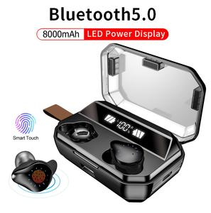 Image 1 - X12 TWS 4000mAh Earphone Stereo Wireless Bluetooth Earphones Headphones Waterproof Earbuds With LED Display with Mic Touch Key