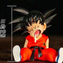 Figuras de acción de Dragon Ball Z, Son Goku, Kawaii durmiente, modelo de PVC, figuras de acción de Goku para niños, Juguetes de Gogeta