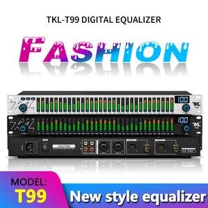 Tkl t99 31 faixas equalizador gráfico de áudio digital equalizador de áudio profissional sistema de som equalizador profissional