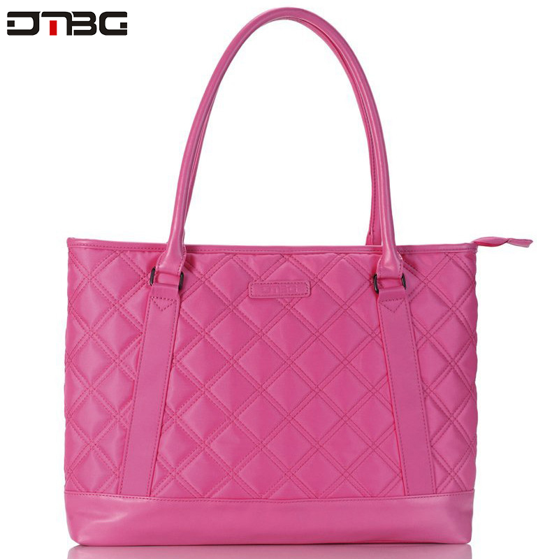DTBG Women Laptop Handbag Formal Office Business Handbag Waterproof Large Capacity Patchwork Bags High Quality Laptop Bag