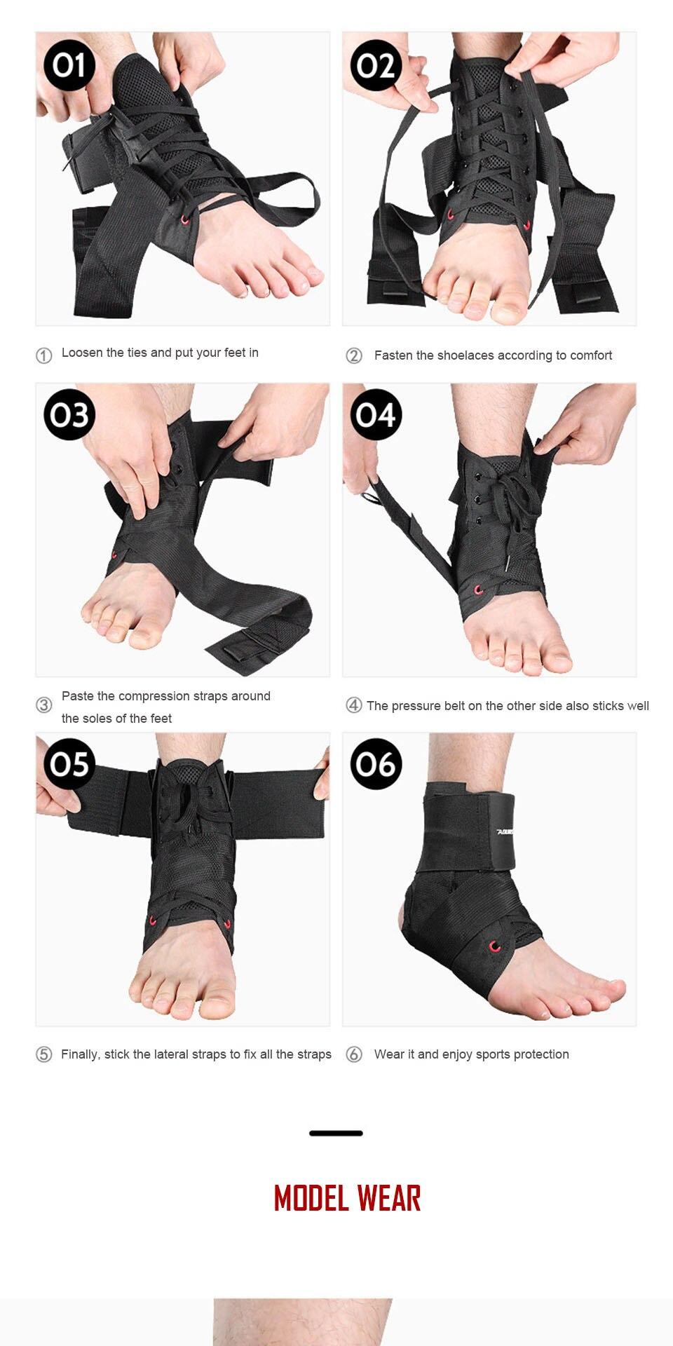 Reforço tornozelo cinta corrida basquete tornozelo suporte