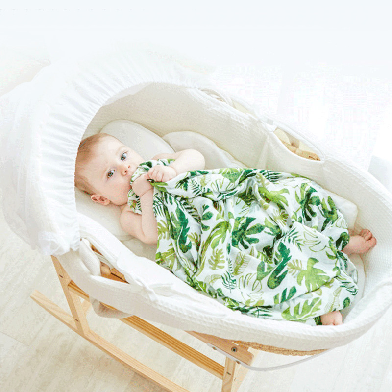 2PCS Newborn Baby Sleeping Bag Cute Plant Animal Printed Wrap Swaddle Blanket Matching Headband Photography Photo Prop