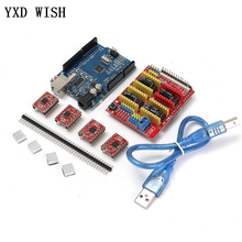 CNC Shield V3.0 Expansion Board + For UNO R3 Board With usb + 4pcs Stepper Motor