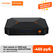 CHUWI – Mini PC Herobox Windows 10, Intel Gemini Lake N4100 Quad Core, 8 go LPDDR4, 256 go SSD, système d'exploitation avec Port HD LAN VGA