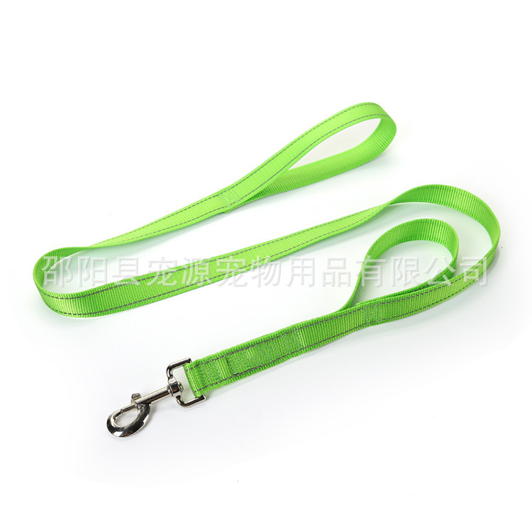 Pet Source Reflective Yarn Hand Holding Rope Dog Rope Pet Double Handle Sling Dog Chain Hot Selling