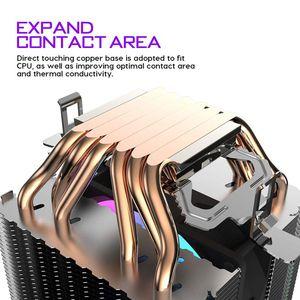 Image 4 - darkFlash CPU Cooler 6 HeatPipes Dual tower Heatsink 3pin 90mm Fan RGB Thermal Grease CPU Air Cooler For LGA775 115x/1366/2011