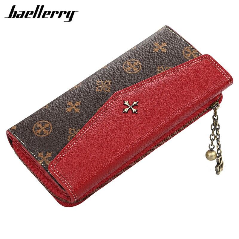 Baellerry Women's Wallet New Long Purse Envelope Clutch Wallets PU Leather Zipper Coin Phone Pocket Money Bag Female Card Holder