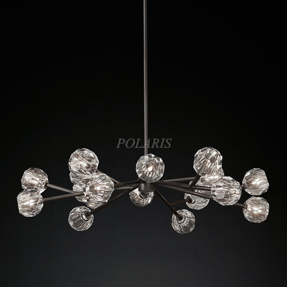 "Spherical Chandelier 48"" Modern Crystal Chandelier Linghting Crystal Pendant Lamp Crystal Ball Chandelier Hanging Light For Home"