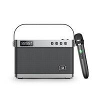 Instrument input 40W power HIFI speaker High quality 2.4G UHF wireless portable karaoke professional speaker