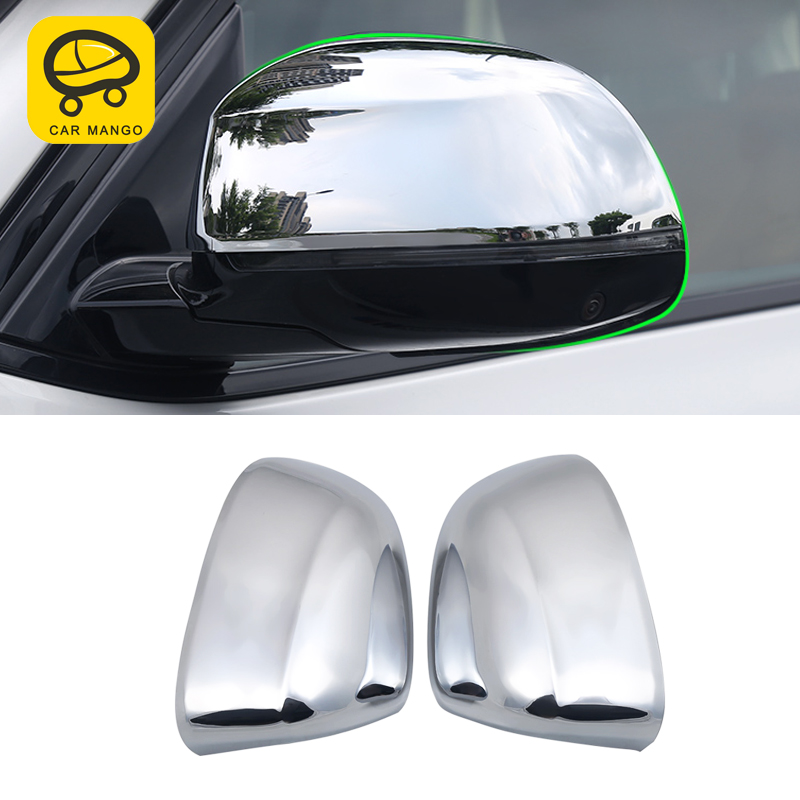 CarManGo for 2018 <font><b>2019</b></font> <font><b>BMW</b></font> X3 G01 <font><b>X4</b></font> G02 Car Rearview Mirror Side Mirror Cover Trim Frame Sticker Protector Exterior <font><b>Accessories</b></font> image