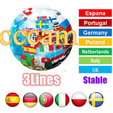 Cccam Cline Europe Spain Portugal Poland Cccam Server Germany Cccam Sky Stable 3lines ccams for Satellite Receiver DVB-S2(China)