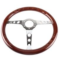 380mm 15 Inch Grant Classic Nostalgia Style Wood Grain Steering Wheel Classic Wheel Slotted 3 Spoke Steering Wheel Riveted Light