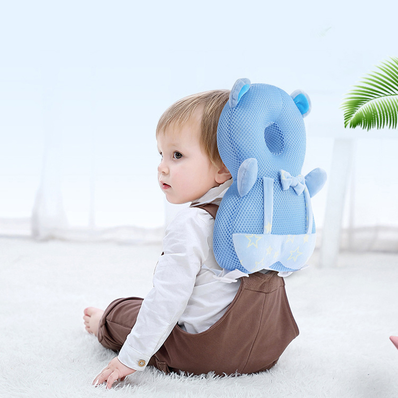 New Children's Anti-fall Pillow Summer Breathable Mesh Baby Toddler Head Protector Baby Anti-fall Artifact Protection Mat