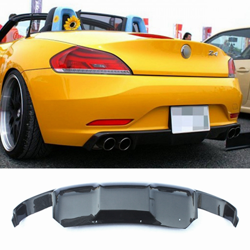 MONTFORD accessoires de voiture en Fiber de carbone diffuseur arrière pare-chocs garde protecteur plaque de protection pare-chocs couvercle pour BMW E89 Z4 2009-2013 1 pièces