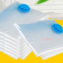 Storage-Bag Clothes-Organizer Vacuum-Bag Space-Saving Compressed Foldable Transparent