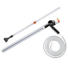 Nova ferramenta de limpeza manual do sifão da bomba de lavagem da areia do dispositivo da sução do cambiador de água do aquário-37