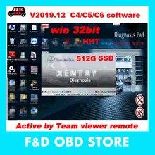1 шт. SSD 512G с установкой программного обеспечения для MB STAR C4 SD подключения для mb star c5 новое программное обеспечение HHT-WIN 32 бит DTS-DAS-EPC XE-TRY scn