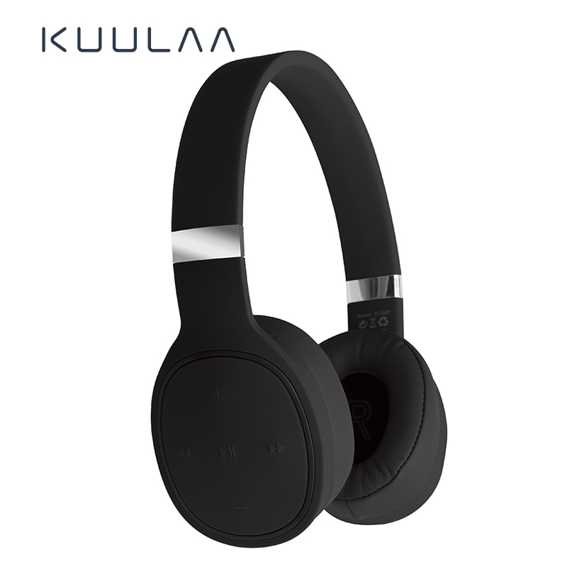 KUULAA Wireless Headphones Bluetooth Headset Stereo Headphone <font><b>Gaming</b></font> <font><b>Earphones</b></font> <font><b>With</b></font> <font><b>Microphone</b></font> For PC Mobile Phone MP3 image