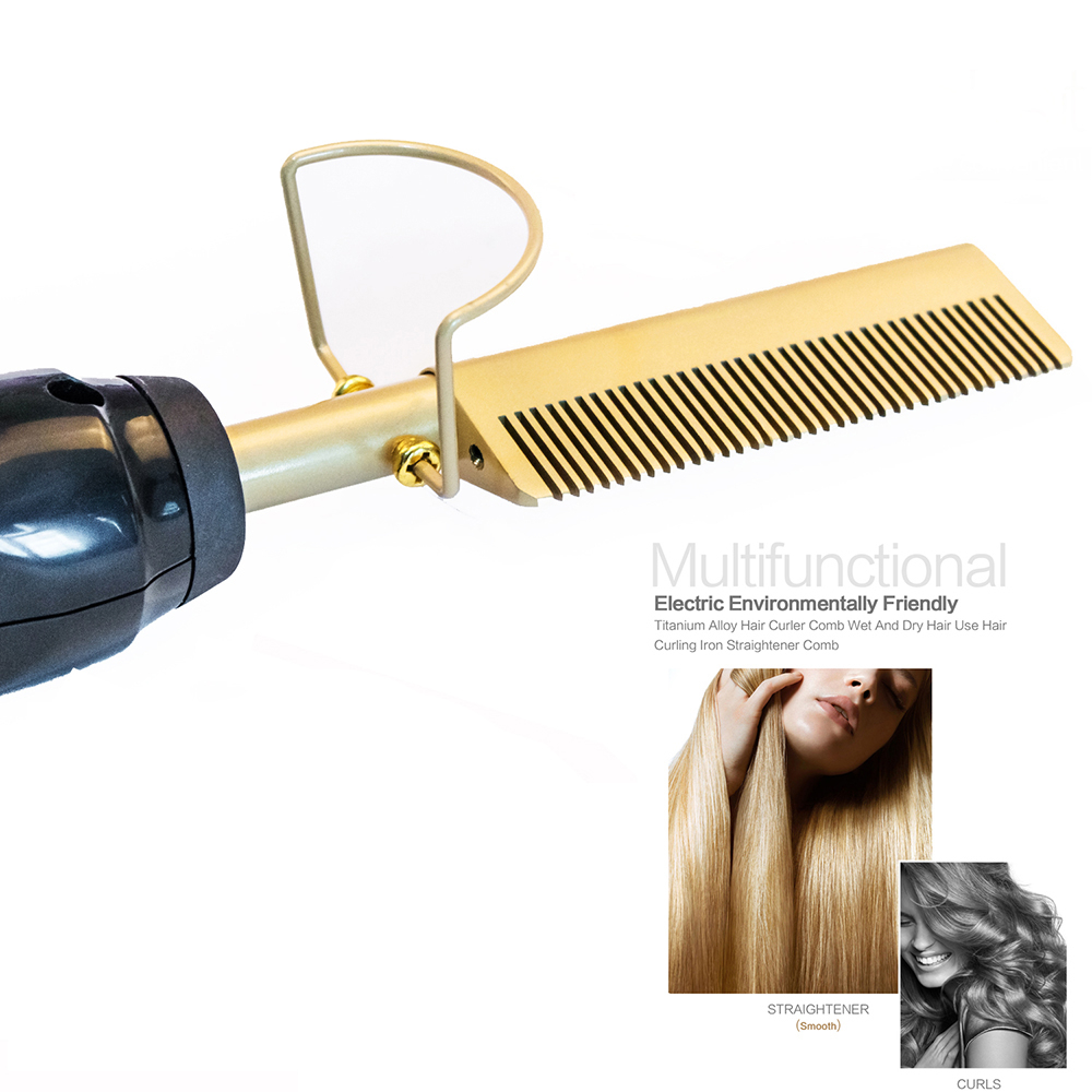 New Hair Straightener Flat Irons Straightening Brush Hot Comb Hair Straight Styler Corrugation Curling Iron Hair Curler Comb
