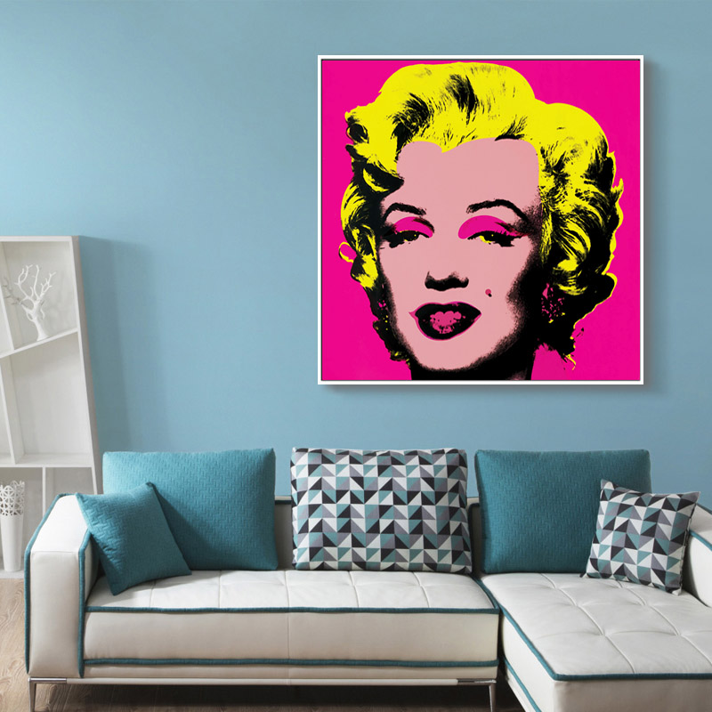 Hot sale pop art collage Paintings Cuadros Unframed Real Sale Marilyn Monroe Andy Warhol Painting Pop Art Print On Canvas