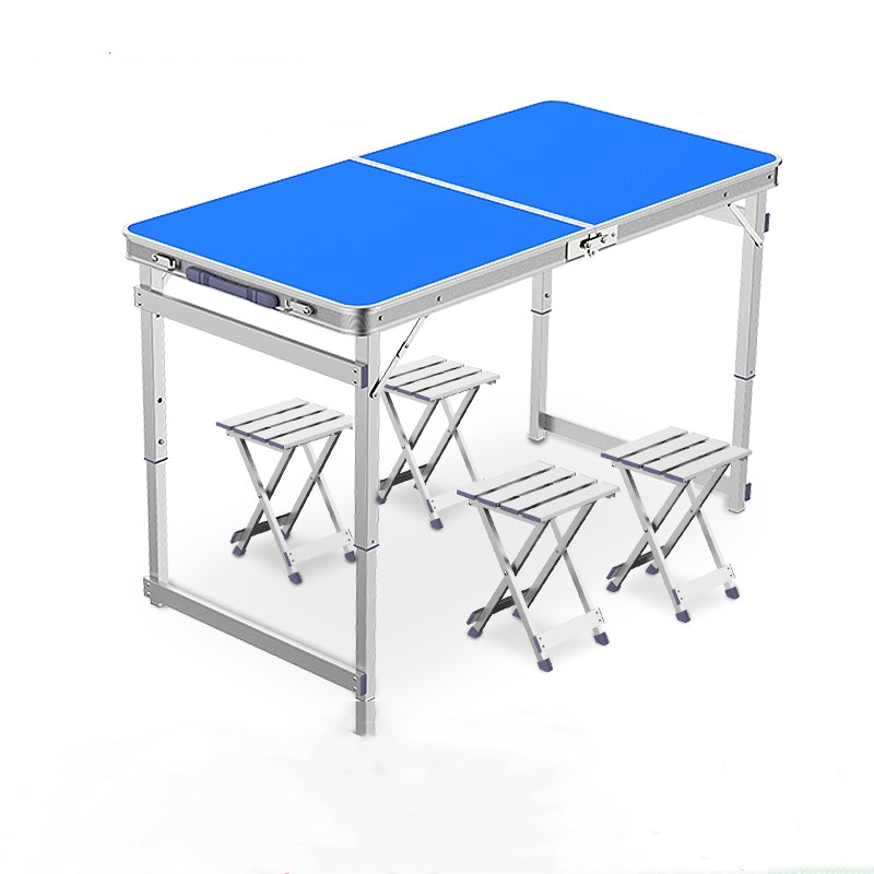 Outdoor Folding Portable Camping Table Chair Household Simple Small Table Folding 1.8m  Mesas Plegables Madera Patio Furniture