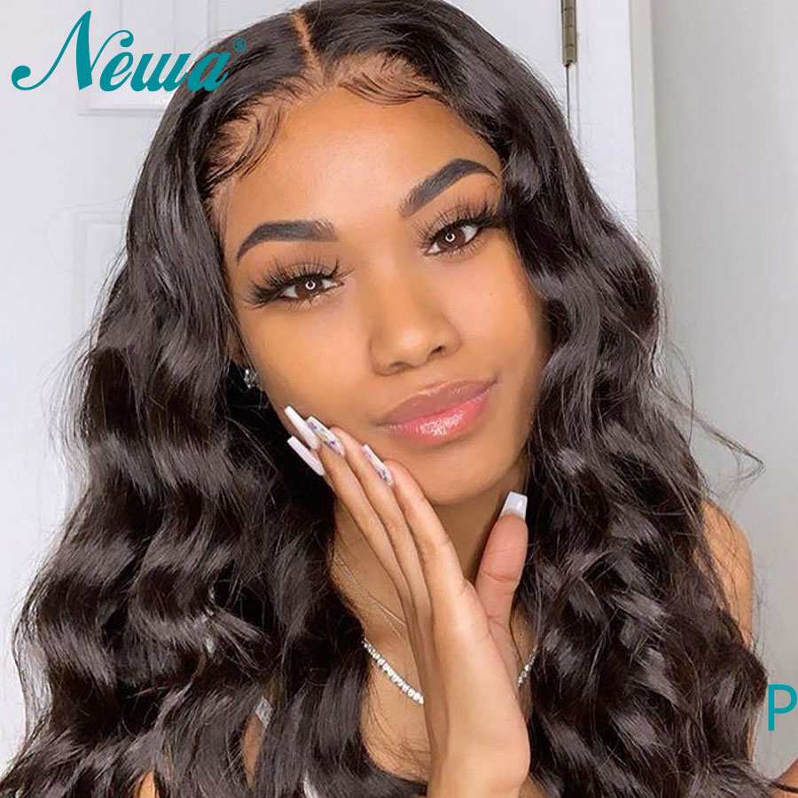 Newa Hair Lace Front Human Hair Wigs Pre Plucked 13x6 Body Wave Brazilian Lace Front Wigs With Baby Hair Remy Hair 130%/150%