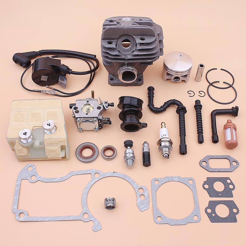 44mm Cylinder Piston Kit For Stihl MS260 026 Carburetor Ignition Coil Air Fuel Filter Line Intake Manifold Gasket Chainsaw