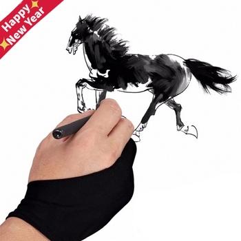 2 Finger Anti-antyzabrudzeniowa rękawica zarówno dla prawej jak i lewej ręki rysunek artystyczny dla każdego Tablet graficzny do rysowania tanie i dobre opinie KOQZM drawing glove piece