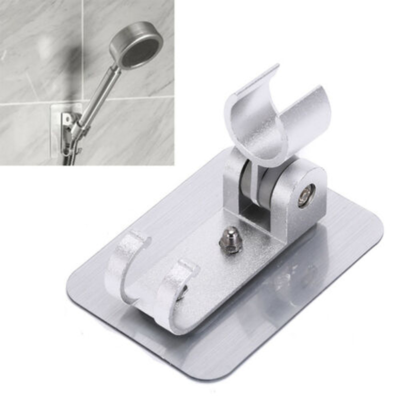 1* Bathroom Shower Head Holder Stand Adhesive Punch-Free Wall Mount Hook Bracket