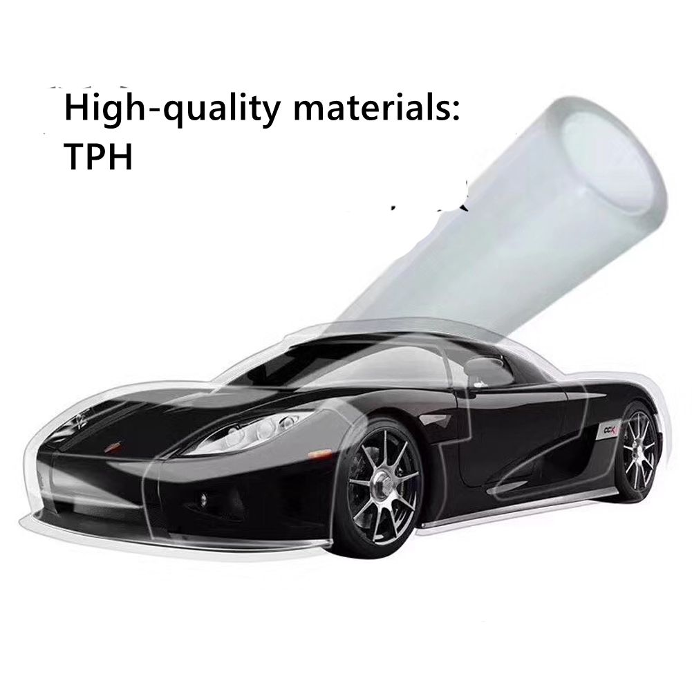 152cm*50cm Transparent TPH Protective Film Car Body Repairable Stickers Anti-scratch PPF