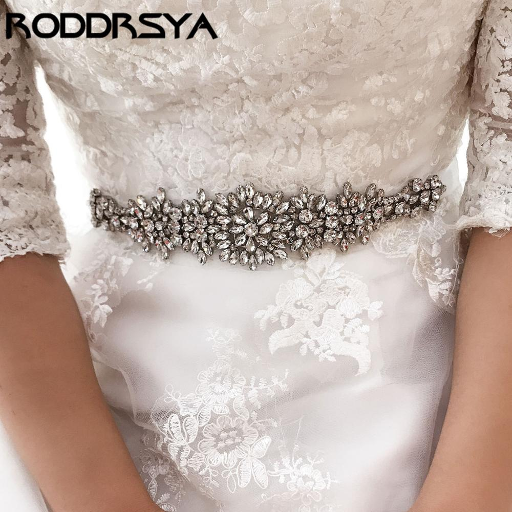 Luxury Rhinestone Wedding Girdle Belt White Hand-Stitched Crystal Diamond European Bridal Accessories Bridesmaid Dress Girdle