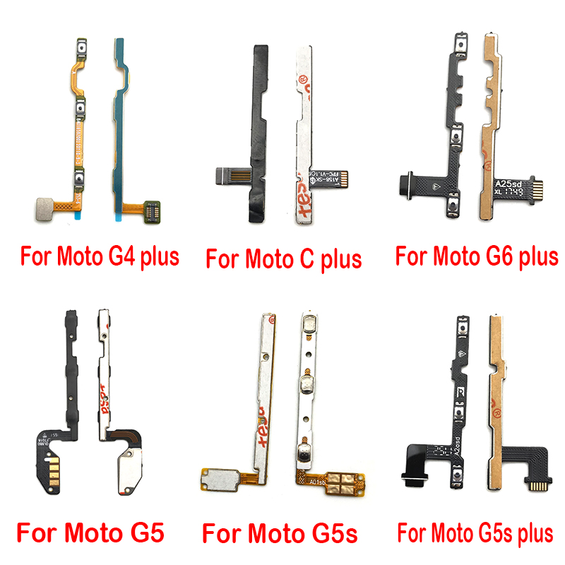Volume Button Power Switch On Off Button Flex Cable For Motorola Moto G5 G5S G6 E5 G4 Plus Play