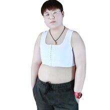 Tomboy Mesh Chest Binder Trans ultra płaski oddychający krótki gorset Les kamizelka w dużym rozmiarze podkoszulki Cosplay bielizna sportowa lesbijki