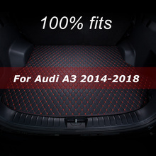 Car trunk mat for Audi A3 hatchback 2014 2015 2016 2017 2018 cargo liner carpet interior accessories cover