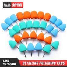 Spta 30 pçs auto detalhamento polimento rebarbas almofadas para carro detalhando polimento e polimento uso em ferramentas rotativas dremel polonês