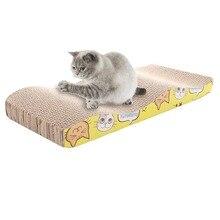 S-образная гофрированная бумага для кошек, шлифовальная доска для ногтей, Интерактивная Защитная мебель, игрушка для кошек, большой размер, игрушка для кошек