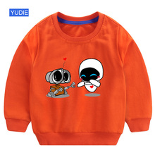 boy hoodie children white sweatshirt for funny wall e toddler autumn long sleeves baby boys clothes 6 years 6T