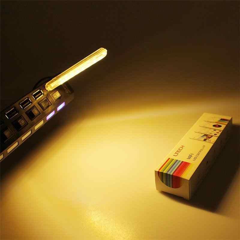 DC5V HA CONDOTTO LA Luce di Notte Mini USB 8LED Lampada del Libro Palo di Estensione per il Campeggio Lettura PC Del Computer Portatile Accumulatori e caricabatterie di riserva Usb Portatile luci