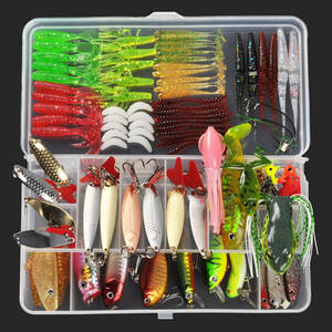 ALLBLUE Tackle Jighead-Spoon Wobbler Popper Fishing-Lure-Kit Minnow Plastic Metal Artificial-Bait