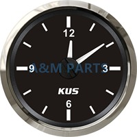 Kus barco hora relógio de quartzo calibre à prova drv água carro marinho rv dial 12 horas 12v/24v