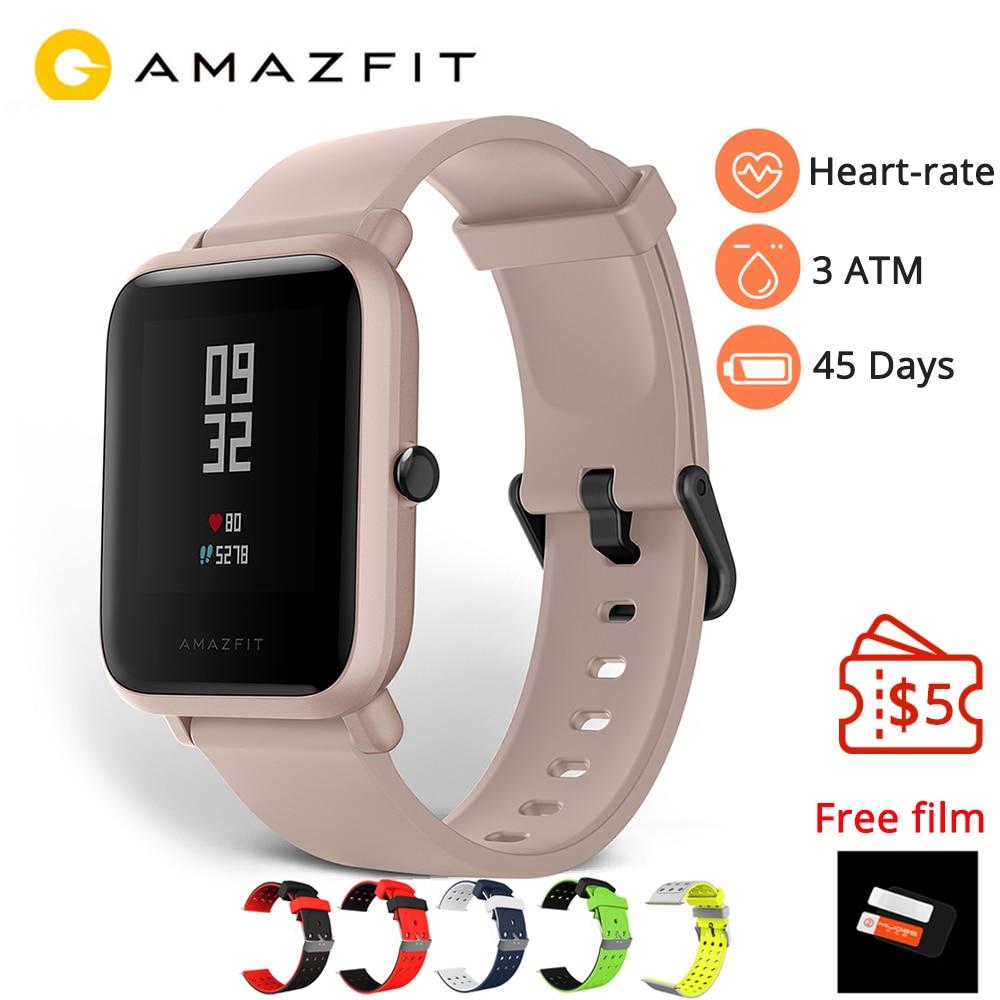 Version anglaise Amazfit Bip Lite montre intelligente Huami Amazfit Bip Lite montre hommes 45 jours d'autonomie 3ATM moniteur de fréquence cardiaque montre