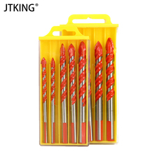 купить 5 pieces of carbide drill glass tile concrete marble drilling tool power tool accessories 6-12mm center drill set дешево