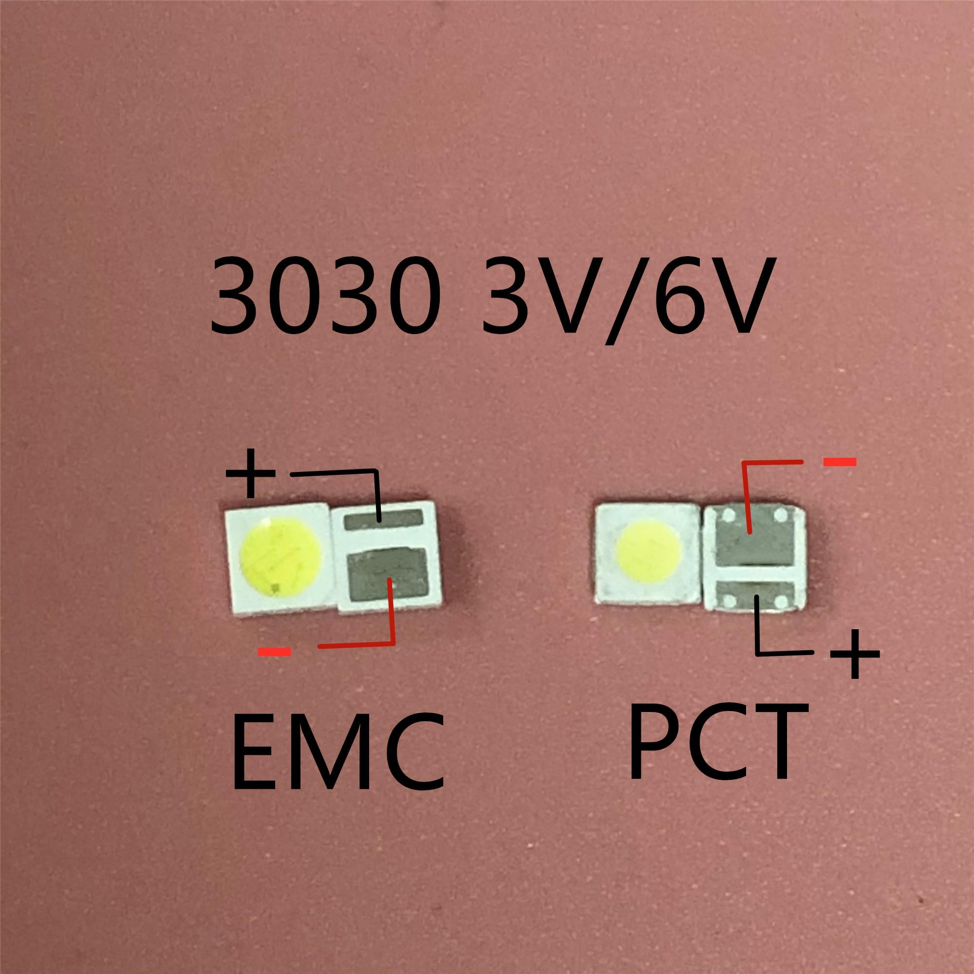 Светодиодный светильник с подсветкой, 1 Вт, 1,5 Вт, 2 Вт, 3030, 3 в, 6 в, холодный белый, 80-90 лм, для ТВ-приложения, новый PCT, EMC, светодиодный, 3 в