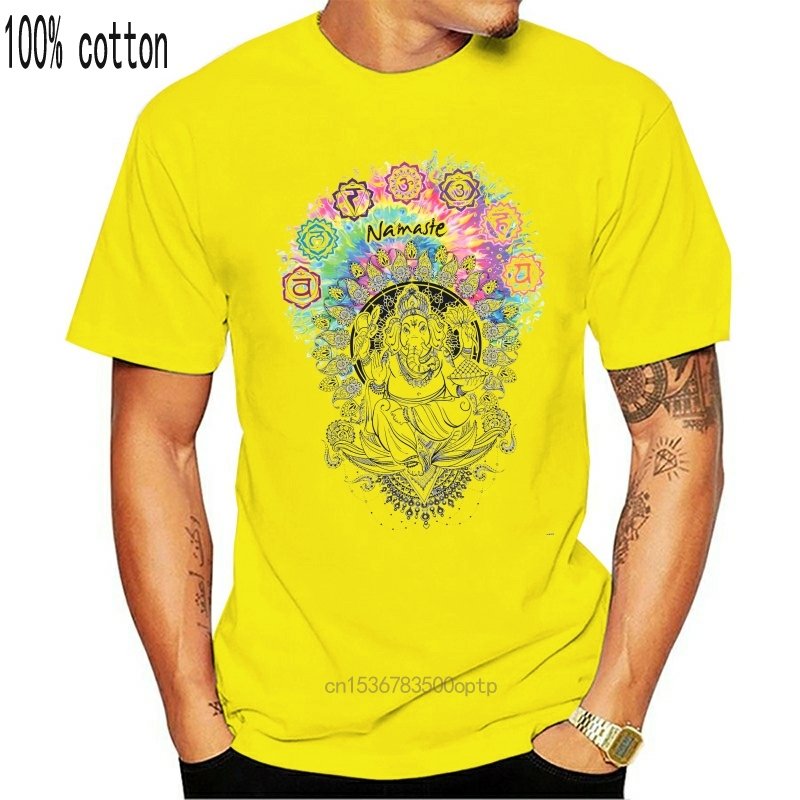 Женская белая футболка Ganesh Namaste ом АУМ нефритовый пламя Будда медитация TS656|Футболки| | АлиЭкспресс