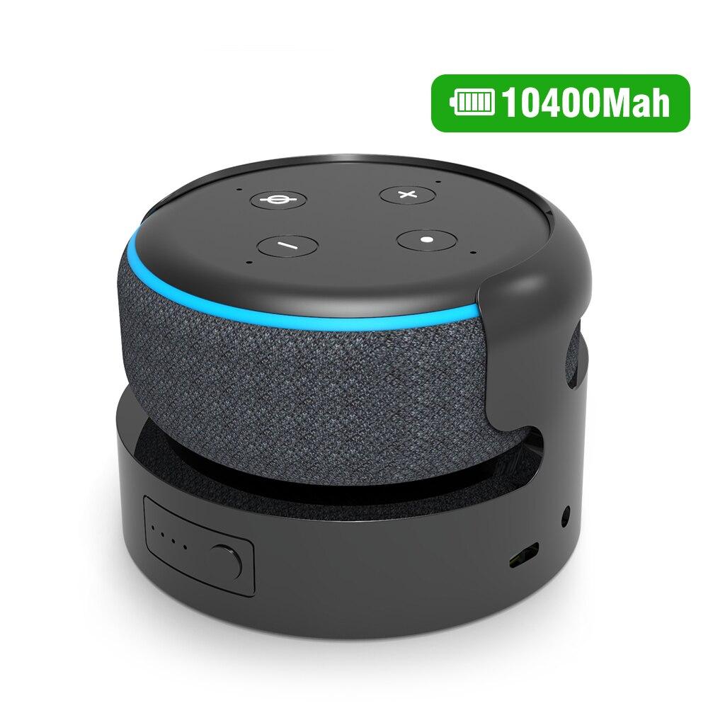 Набор аккумуляторов для Echo Dot 3rd, база аккумулятора для Echo Dot 3, держатель, портативное зарядное устройство, док-станция, аксессуары