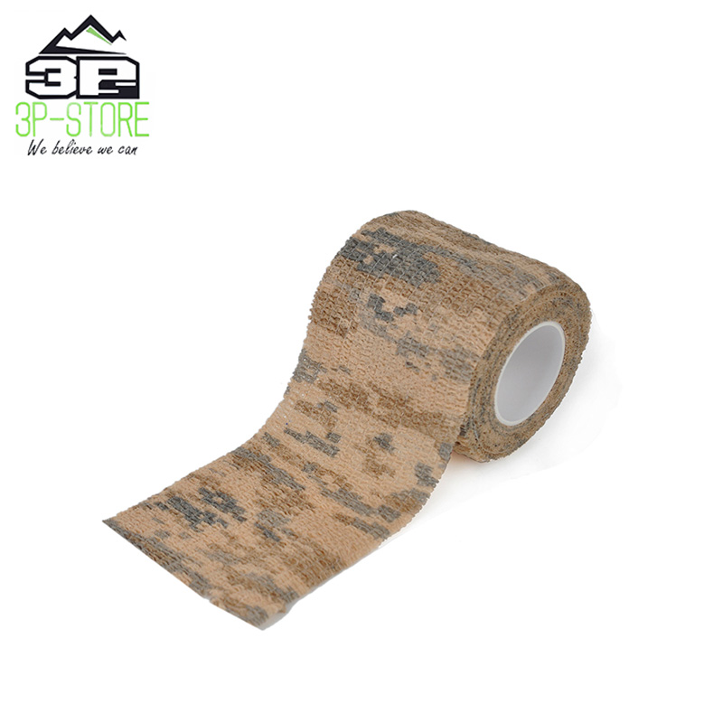 Airsoft Elastic Camo Cotton Tape Rifle Gun Wrap Hunting Accessories WEX388