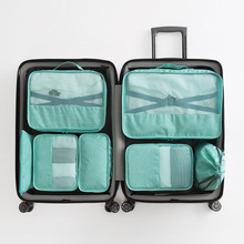 New 2020 Travel Organizer Storage Bag Set Clothes Organizer Bags Waterproof Pouch Suitcase Home Closet Bags for Storage 7 sets